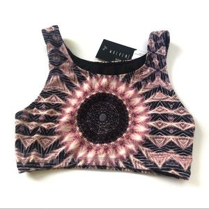 Wolven Threads Heliocentric Crop Top